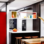 Modern Kitchen in Red and Black