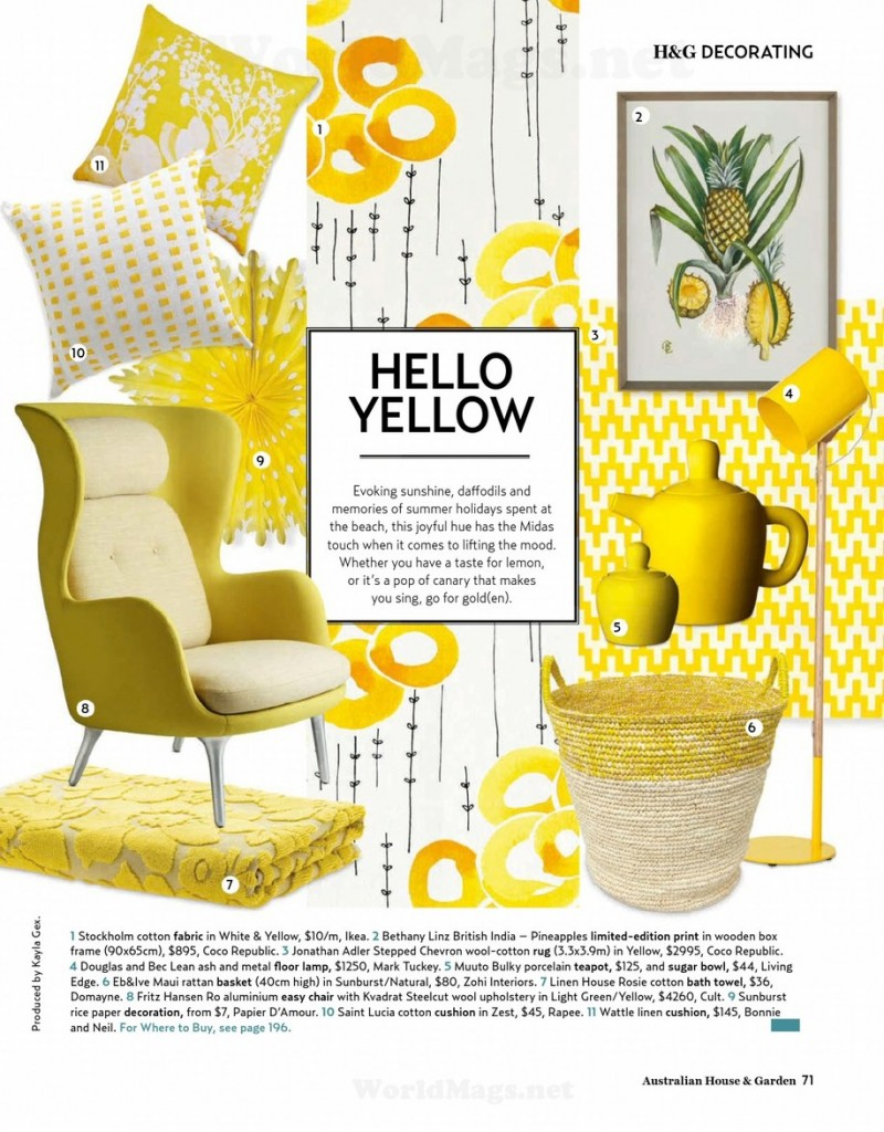 Hello Yellow Decorating