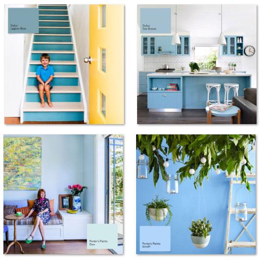Blue Summer Paints