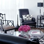 Black and White Glam Living Room