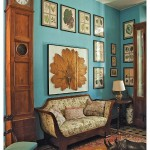 Antique and Modern with a Turquoise Wall