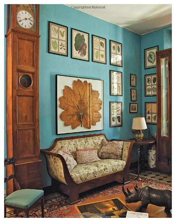 Antique and modern with a turquoise wall interiors by color for Living room antique and modern