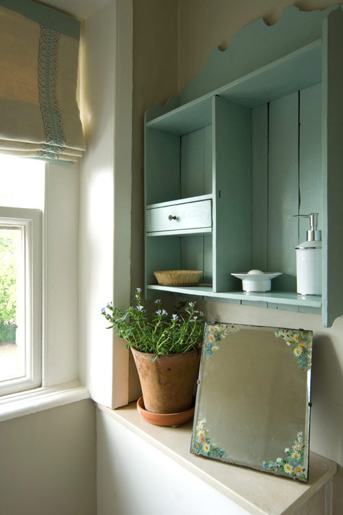 Cabinet Painted Blue Green