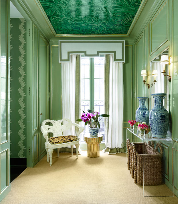 A Ceiling Full Of Malachite Interiors By Color