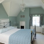 Attic Style Bedroom in Green Blue