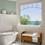 Benjamin Moore's Palladian Blue Bedroom and Bathroom