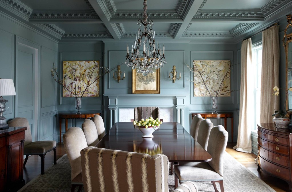 farrow ball green blue english country dining - Country Dining Room Color Schemes