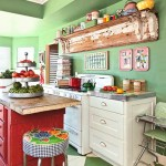 Green and Red Rustic Kitchen