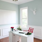 Palladian Blue and Red Home Office