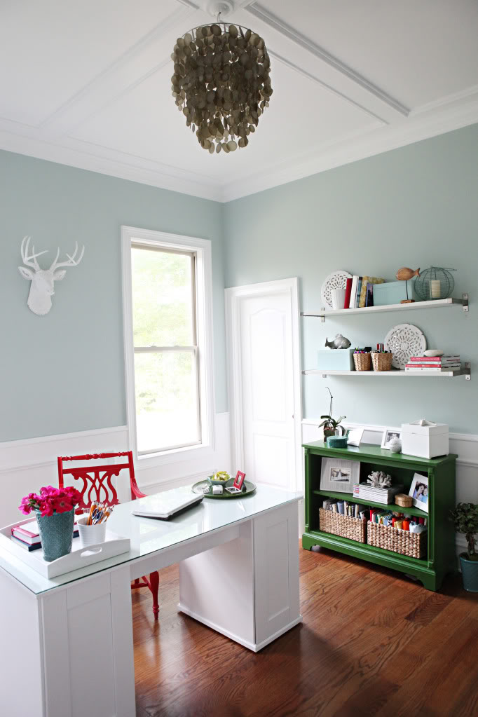 Palladian Blue And Red Home Office Interiors By Color