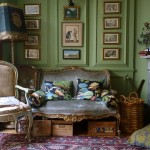 English Eccentric Drawing Room in Green