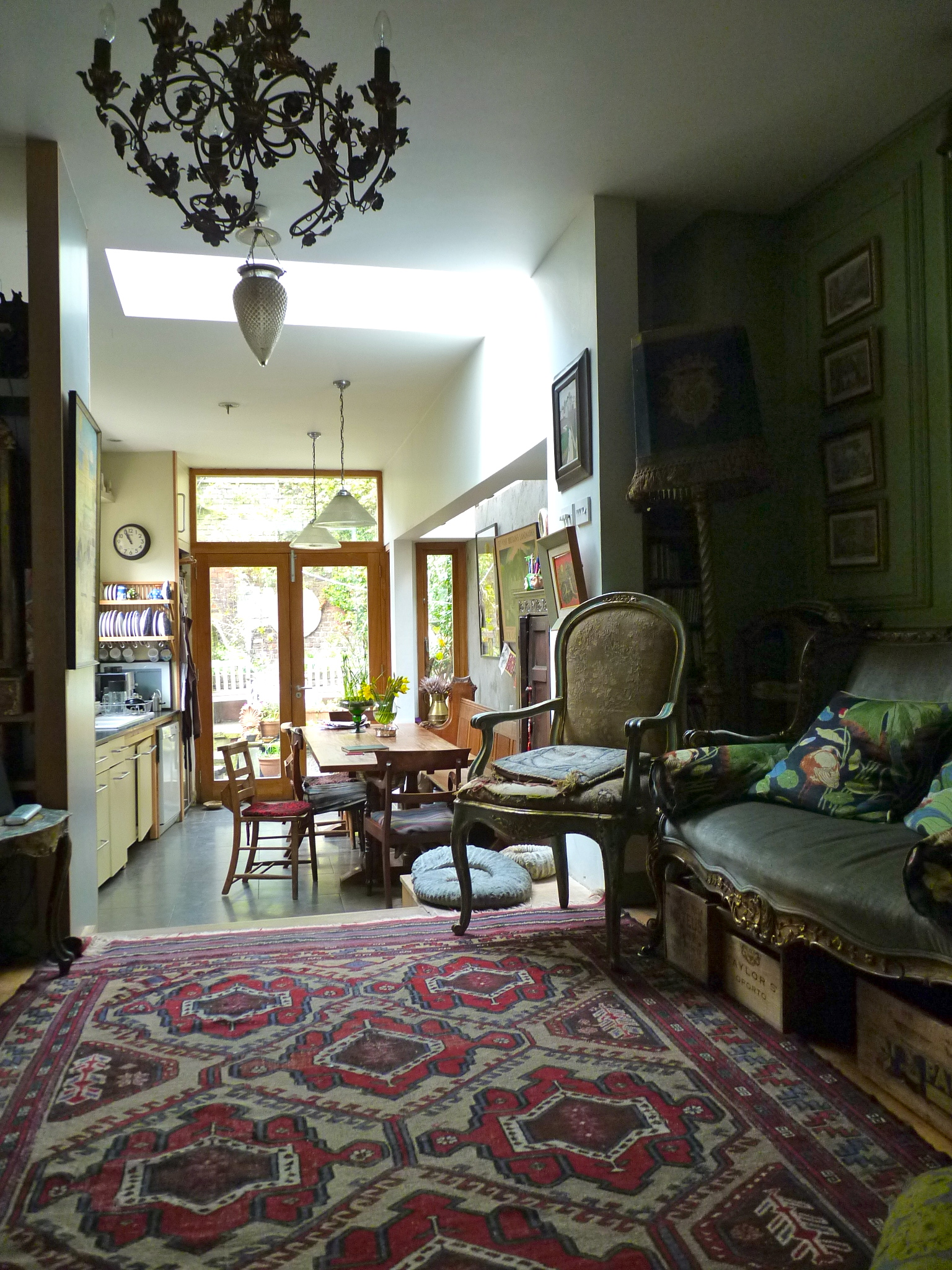English Eccentric Drawing Room In Green Interiors By Color