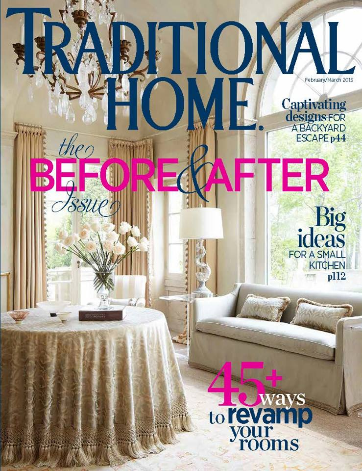 Traditional home february march 2015 interiors by color Home design and living magazine