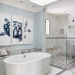 Marble and Blue Lace Bathroom