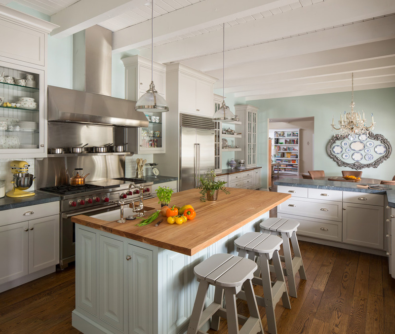 California ranch style kitchen interiors by color for Cal s country kitchen