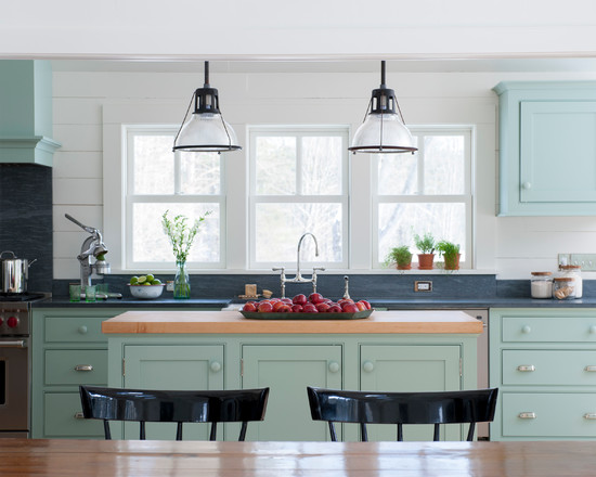 gray green paint color for kitchen blue green kitchen cabinets interiors by color 8346