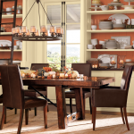 Ivory and Orange Dining Room