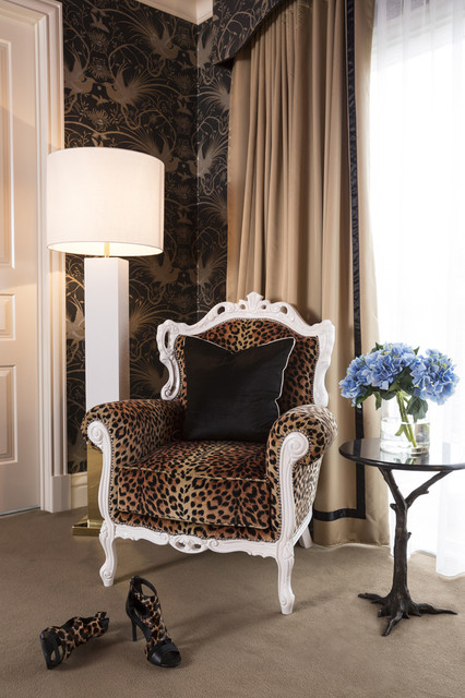 Glam Purple And Leopard Bedroom Interiors By Color