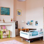 Eclectic Kids Room in Eggshell Pink
