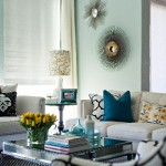 Blue Walls - Teal and Yellow Accents