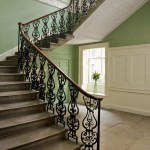 green walls staircase