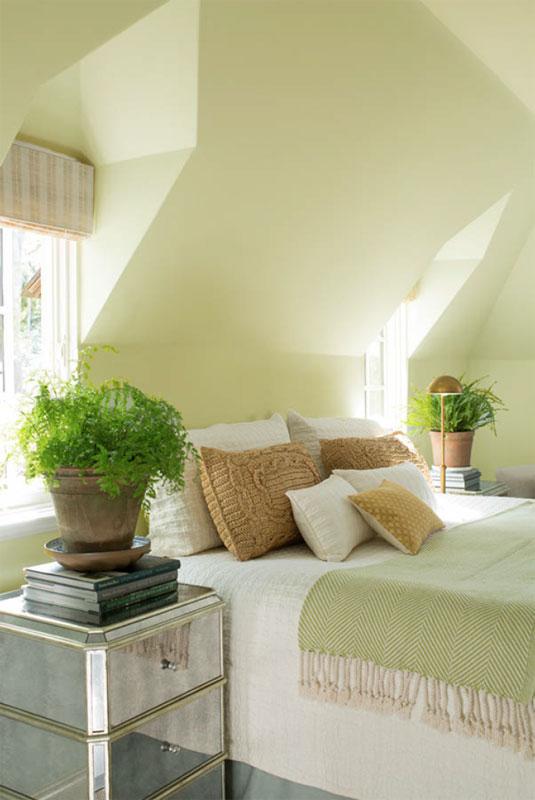 Green Bedroom in Attic