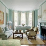 Pale Blue Living Room in a Boston Brownstone