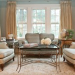 Cream and Blue Traditional Living Room