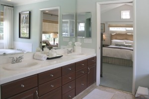 Hotel Inspired Master Bath in Palladian Blue