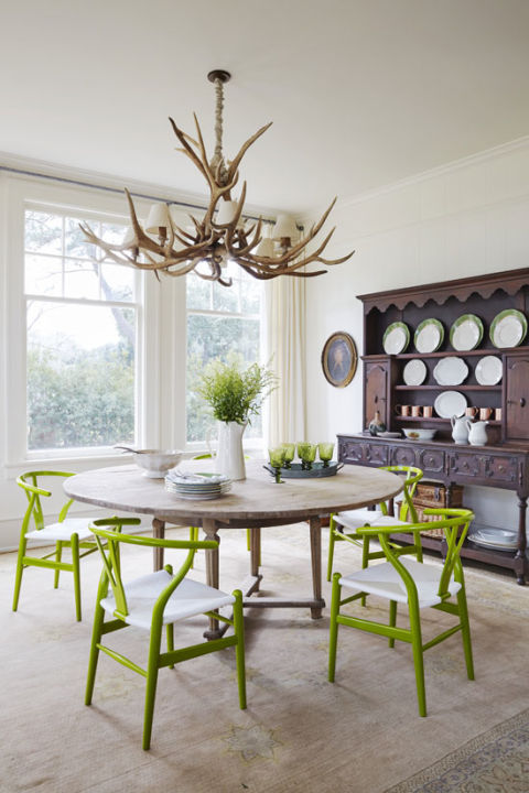 painted dining chairs - Interiors By Color (7 interior ...