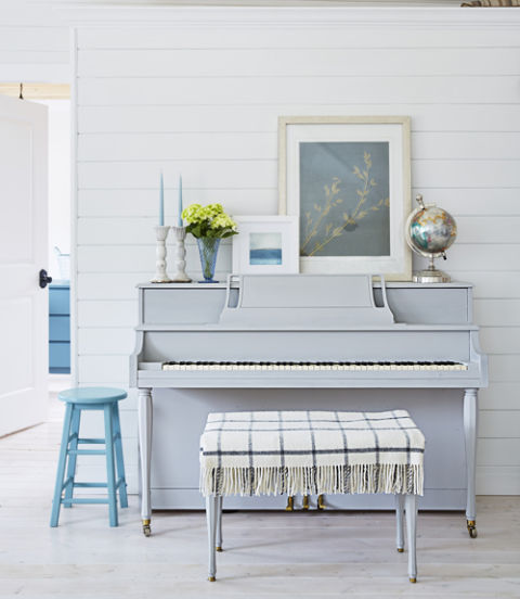 soothing gray blue piano