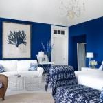 Benjamin Moore Patriot Blue Walls Guestroom