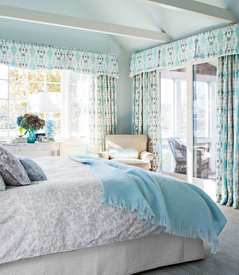Damask interiors by color 30 interior decorating ideas Master bedroom light blue walls