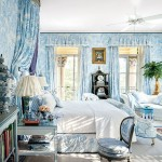 Blue and White Traditional Bedroom