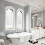 Contemporary Bathroom in Cool Gray and White