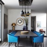 Blue Leather Minotti Chairs