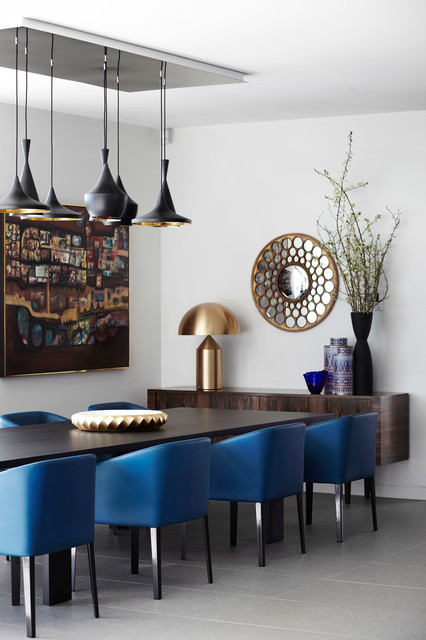 Blue Leather Minotti Chairs Interiors By Color