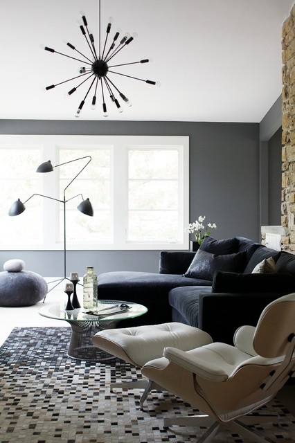 Contemporary Gray Living Area