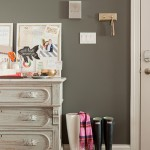 Gray and White Entryway
