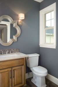 Grizzle Gray and Silver Bathroom