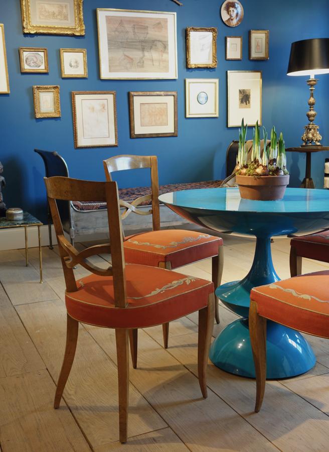 retro turquoise table