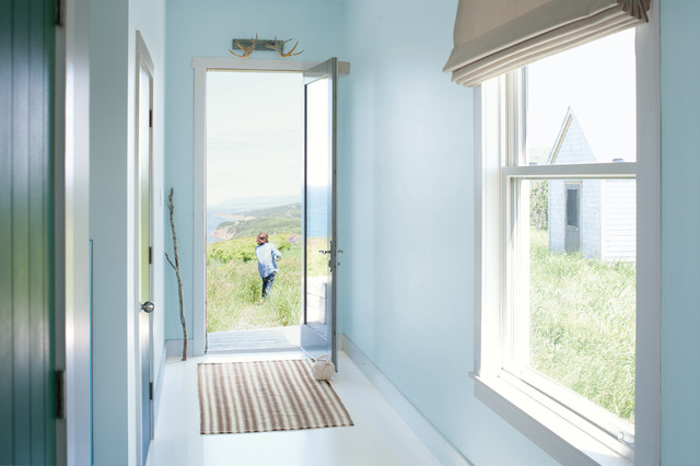 Benjamin Moore's Breath of Fresh Air Paint Color Palette for a Traditional Entry