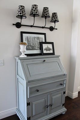 benjamin moore puritan gray secretary desk   interiors by