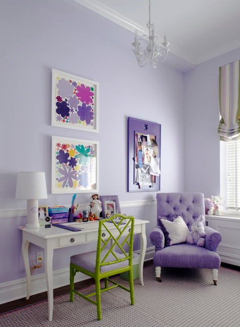 Girls Room in Lavender and Green
