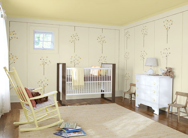 Baby's Nursery in Creamy Neutrals benjamin moore paints