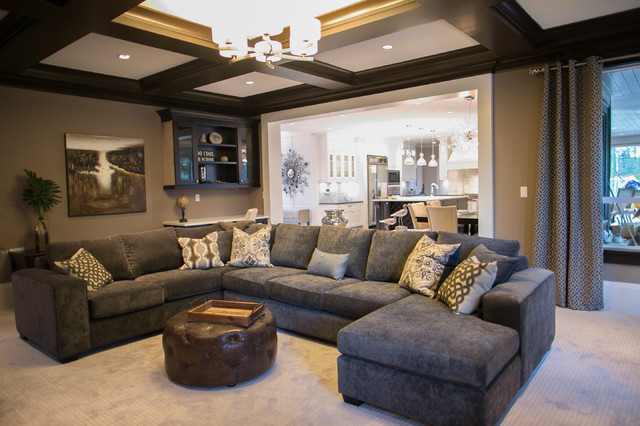 City glam in the country interiors by color for Brown taupe living room