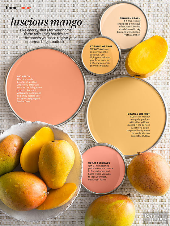 Paint Palette Luscious Mango Interiors By Color