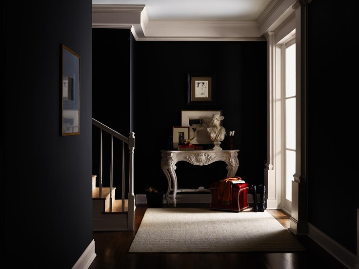 Foyer George Williams Room : Tricorn black entrance interiors by color