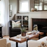 Taupe Walls and White Fireplace
