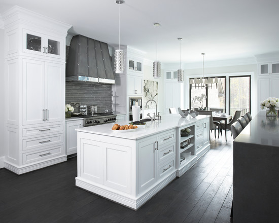 Transitional Style Kitchen in White